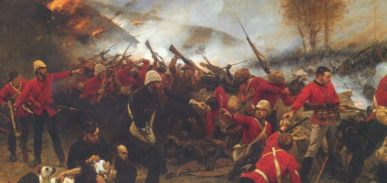 The painting Defense of Rorke's Drift by Alphonse de Neuville